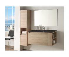 Set mobili bagno effetto legno e nero - BEHATI