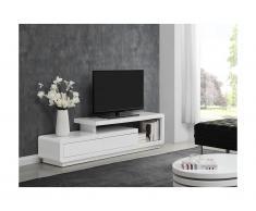 Mobile TV - 2 cassetti - MDF laccato Bianco - ARTABAN