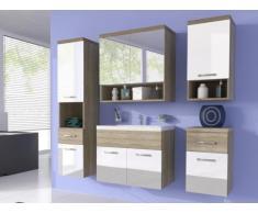 Set LUISA - Mobili per bagno - Laccato bianco e legno