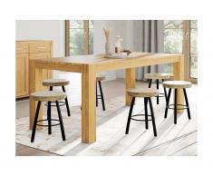 Tavolo da pranzo 6 posti in Legno di quercia oliato - BROCELIANDE II