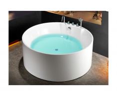 Vasca da bagno freestanding rotonda 150x150xH58 cm - LINDA