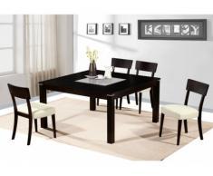 Set tavolo + 4 sedie MANTALA - Faggio massello - Wengé