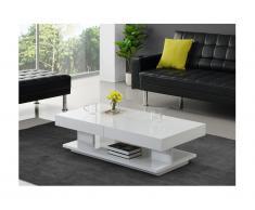 Tavolino con vani portaoggetti - MDF laccato bianco - ARAMIS
