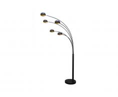 Lampada da terra STELLA - 5 punti luce - H 210 cm - Nera e dorata