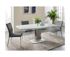 Set tavolo + 4 sedie Bianco 6 - TALICIA
