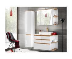 Set mobili bagno Legno e bianco - ANIDA