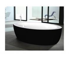 Vasca da bagno centro stanza MARMARA - 206L - 185x91x58 cm - Nero