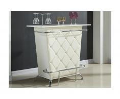 Mobile bar CLAY - Similpelle e strass - Bianco