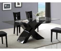 Tavolo da pranzo HOLLIS - 8 coperti - MDF laccato nero