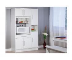 Credenza da cucina MADY - 5 ante e 1 cassetto - Colore bianco