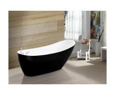 Vasca da bagno freestanding 170x75xH73 cm 282 L Nero - NATALIA