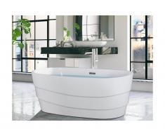 Vasca da bagno freestanding di design 200L 150x72x58 cm Bianco - DOMINIKA