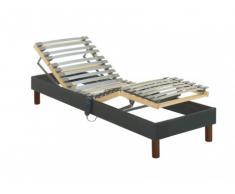 Rete relax con doghe in tessuto grigio antracite di DREAMEA - 80 x 200 cm