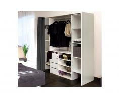 Set guardaroba + credenza EMERIC - Bianco e Antracite