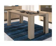 Tavolo da pranzo SUMAI - 6 coperti - Color quercia e marrone