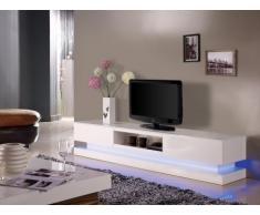 Mobile TV FIRMAMENT - MDF laccato bianco - LED - 2 cassetti e 1 nicchia