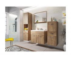 Set Mobili bagno effetto legno - CLAUDIA