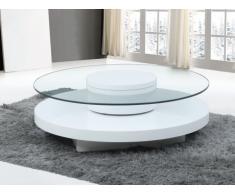Tavolino girevole in Vetro temperato e MDF - RYHALI