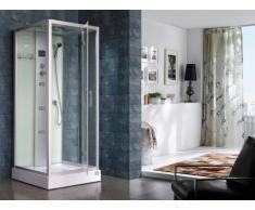 Doccia idromassaggio ANJA - 30 microgetti massaggianti e radio - L90xP90xH215 cm - Pioggia tropicale e doccia manuale