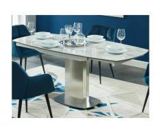 Tavolo da pranzo allungabile da 4 a 6 coperti Ceramica e acciaio - TALICIA
