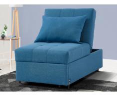 Poltrona letto in tessuto LESNA - Blu