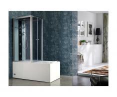 Doccia/Vasca idromassaggio DARIA in acrilico rinforzato vetro grigio scuro - 75x150x215 cm - 30 microgetti e 6 getti grandi