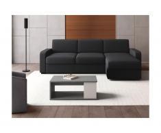Tavolino rialzabile in Legno e MDF Calcestruzzo e bianco - ALDANA