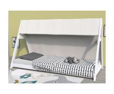 Letto tenda 90 x 200cm in Abete rosso Bianco - COMANCHE