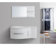 Set per sala da bagno NAIADE - mobili + lavabo + specchio - Bianco