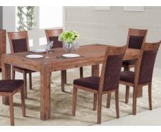 Tavolo da pranzo OAKLAND - 8 coperti - Legno e metallo - Color ciliegio