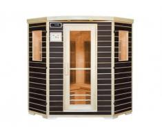 Sauna a infrarossi 4/5 posti wengé Gamma Carbone BLACKSPIRIT