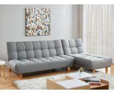 Divano letto modulare in tessuto Grigio - ESTEBAN