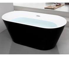 Vasca da bagno freestanding design 150x70xH58 cm Nera - TWIGGY