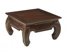 Tavolino quadrato in Teak massello - OPIUM