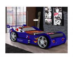 Letto auto con cassetto 90 x 200 cm Blu + materasso incluso - RUNNER