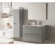 Set STEFANIE - mobile bagno e specchio - Laccato grigio