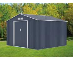 Casetta da giardino in acciaio zincato antracite MAXITA II - 9,3 m²