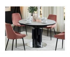Tavolo da pranzo allungabile in MDF e Metallo Grigio -KALEA