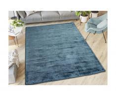 Tappeto 100% viscosa 200x290 cm blu scuro - LOUVAIN