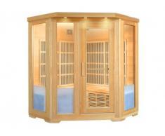 Sauna Infrarossi 3/4 posti angolare Gamma Carbone FJORD