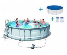 Pacchetto piscina CUBA II 488 cm + vasca solare e cartuccia per filtro