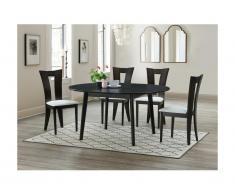 Set tavolo allungabile + 4 sedie in Faggio massello wengé -TIFFANY
