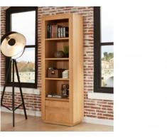 Libreria SYMPHONIE - 4 ripiani - 1 sportello - Legno di quercia oliato