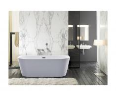 Vasca da bagno freestanding 255L 180 x 75 x 58 cm Bianco - DIVINA