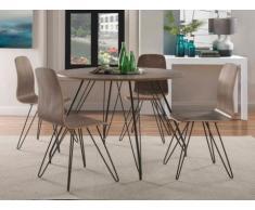 Set tavolo + 4 sedie ELANNA - Color noce