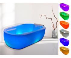 SALDI - Vasca da bagno centro stanza luminosa a LED PHOSPHORE - 280 L - 175 x 81 x 60