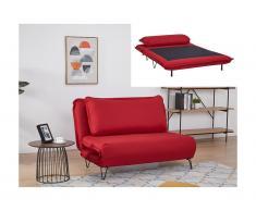 Divano letto 2 posti in Tessuto Rosso - LOOF