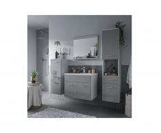 Set CLAUDIO - mobile bagno - Laccato grigio