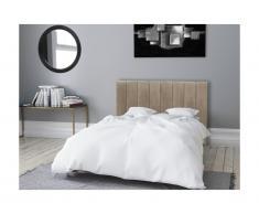 Testiera letto pieghevole 160 cm in Velluto Beige - AMELA