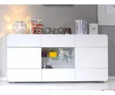 Credenza TREVOR - 3 ante - MDF Laccato - 181 cm - Bianco
